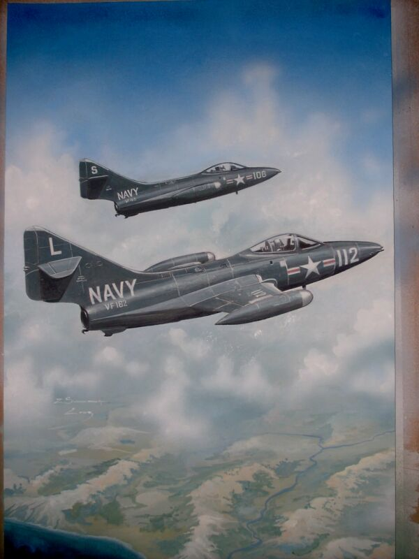 F-9F PANTHERS 15 X 23 INCHES