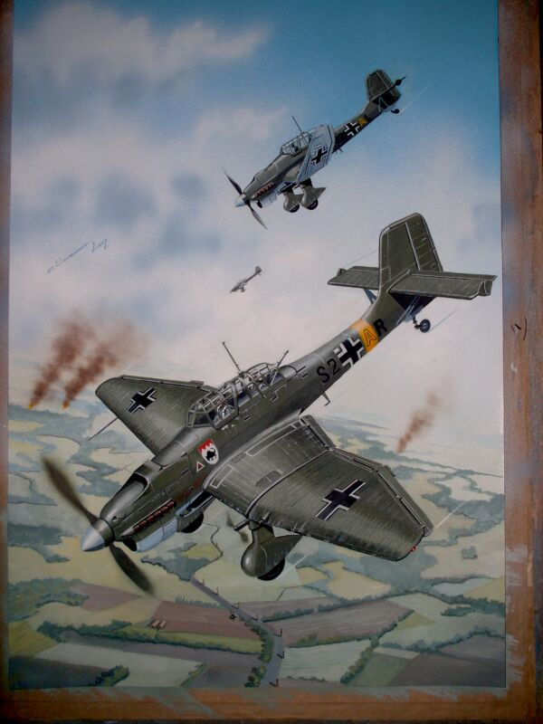 STUKAS 16 X 24 INCHES